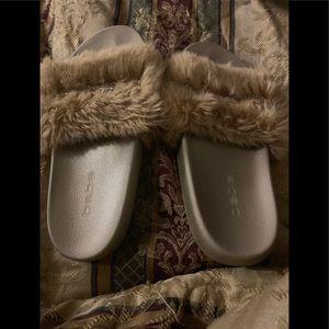 Bebe fuzzy slippers